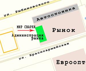 """Схема расположения магазина """"МИР СВАРКИ"""" г. Лида"""